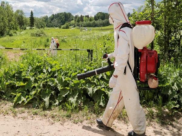 Гербицидная обработка поля в Краснодаре
